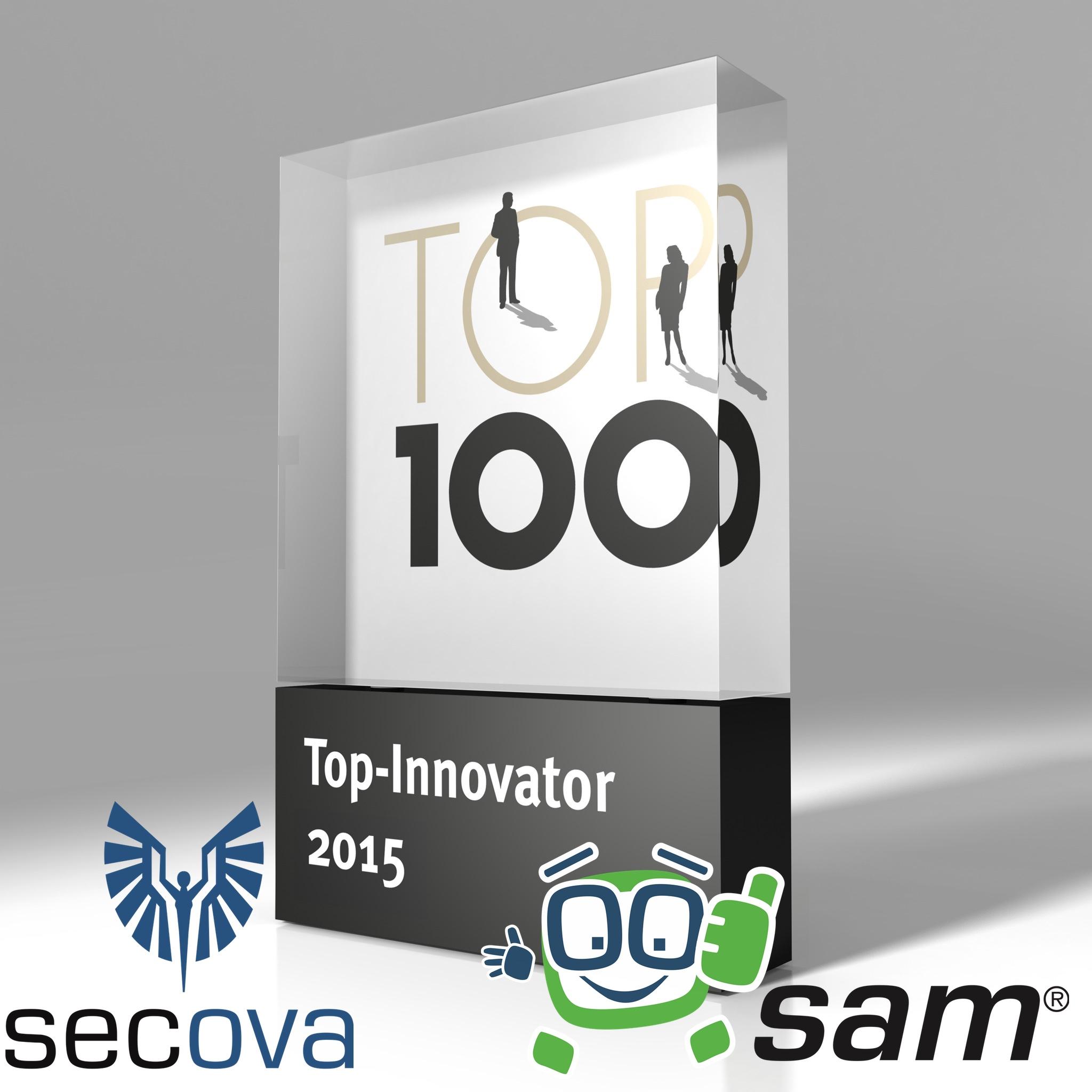 secova und sam* sind TOP100 und damit Spitzenklasse im deutschen Mittelstand.