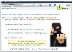 Bildschirmfoto sam-Unterweisung: Kassen - Sicheres Arbeiten (gem. UVV Kassen)