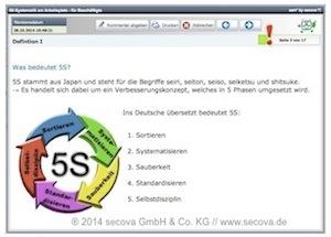 Bildschirmfoto sam*-Unterweisung zur 5S-Systematik
