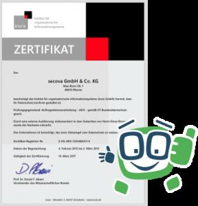 secova Datenschutz Zertifikat 2015